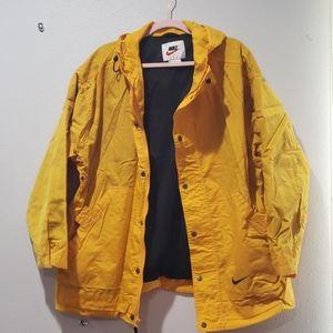 Nike M mustard windbreaker jacket